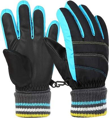 Winter 4-10 Years Old Kids Skating Skiing Snow Waterproof Warm Gloves Mittens