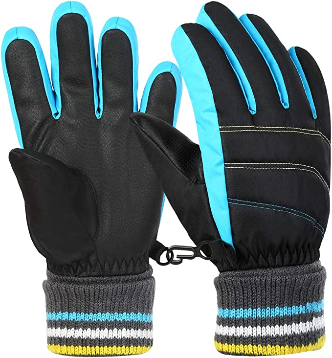 6-12 Years Old Kids Windproof Ski Gloves