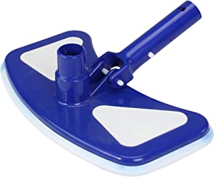 Swim Central Blue and White Deluxe Weighted Vinyl Liner Vacuum Head with Bumper