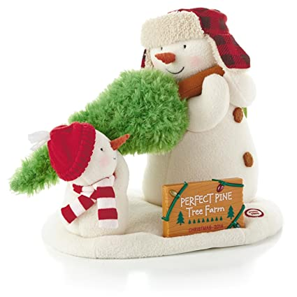 Amazoncom Hallmark The Perfect Tree Techno Plush Snowman Home