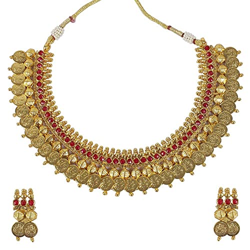 Jewelry & Watches Goldtone Cz Stone Designer 3pc Necklace Set Indian Women Wedding Party Jewellery Beautiful In Colour Engagement & Wedding