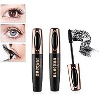 2 PCS 4D Mascara, Silk Waterproof Fiber Mascara, Lengthening and Thick, Voluminous Eyelashes, Dramatic Extension, Smudge…