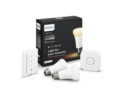 63f99c3c72364 Philips Hue Kit de Démarrage - Lumière blanche à intensité et nuances de  blancs variables (chaud ou ...