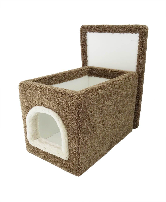 New Cat Condos Premier Small Litter Box Enclosure, Brown