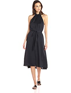Theory Womens Nayline Washed Poly Dress