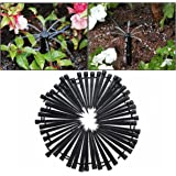 KING DO WAY Adjustable Micro Flow Drip Watering Irrigation Kits System Self Plant Garden Hose Watering Kits Black 13.3cm