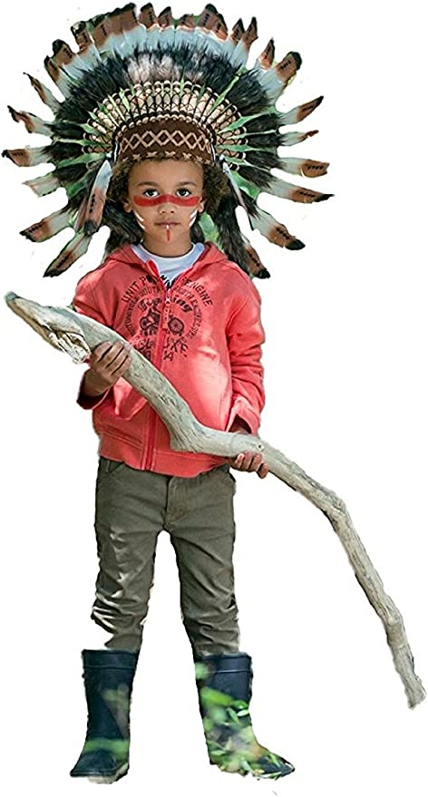 Indian Cap FEATHERSBCN K20 Feder Kopfschmuck Indian Baby Hat//Neugeborene von 0 bis 9 Monate