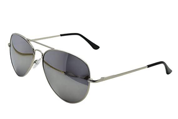 de585ce3e ASVP Shop® Silver Mirror Sunglasses & Cloth Case Uv400 Designer Men's Ladies  Shades