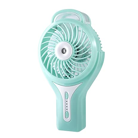 LESHP Handheld Misting Fan,Portable Water Spray Fan Rechargeable Personal  Cooling Mist Humidifier Fan With