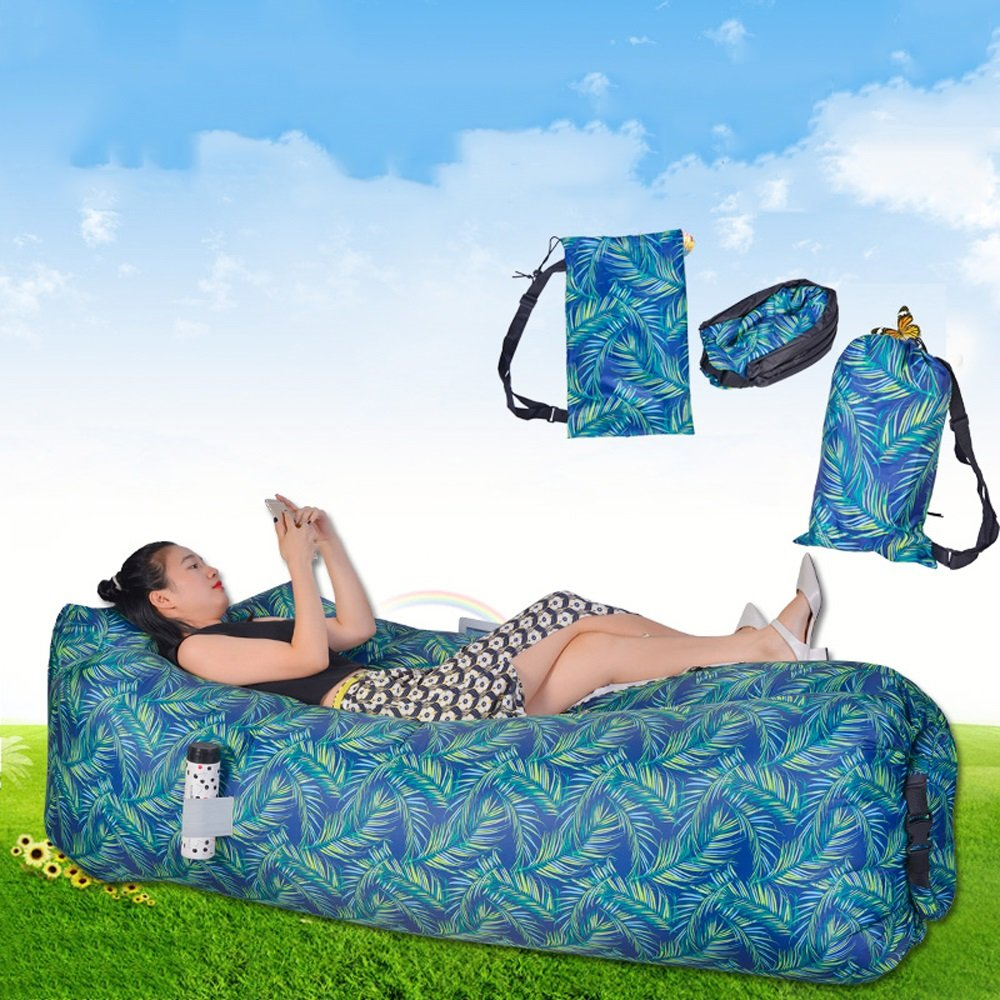 Outdoor Inflatable Lounge Chair Hammock Air Couch And Pool Pontoon. Ideal Holiday Gift For Indoor Or Outdoor Use Air Lazy Or Camping Picnic And Festive Portable Inflatable Lounge by JYKJ