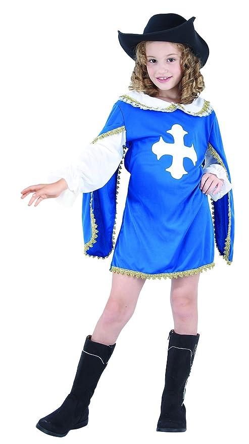 Ridere e coriandoli - Fimo U033 - Costumi per Bambini - Costume Moschettiere  Little Blue - 0c4d3a1942c1