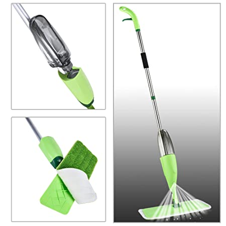 Houskipper Professional Spray Mop with Best 360 Degree Easy Floor Cleaning for Home, Wet & Dry