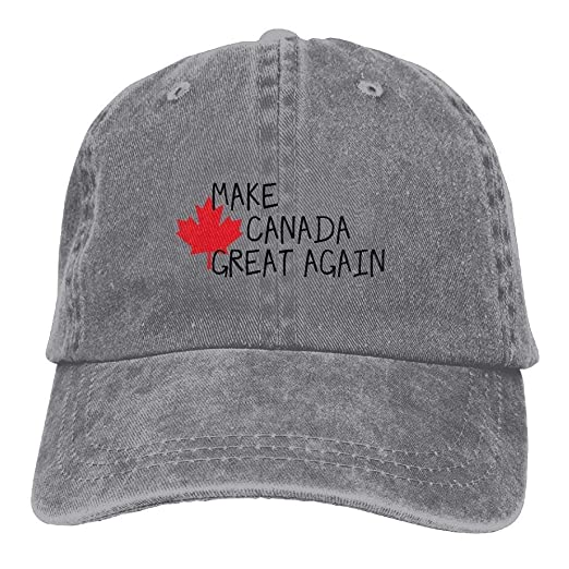 4738b607ba429 Image Unavailable. Image not available for. Color  WAZH Cool Baseball Cap  Men Women Make Canada Great Again Outdoor Sports Fishing Hats
