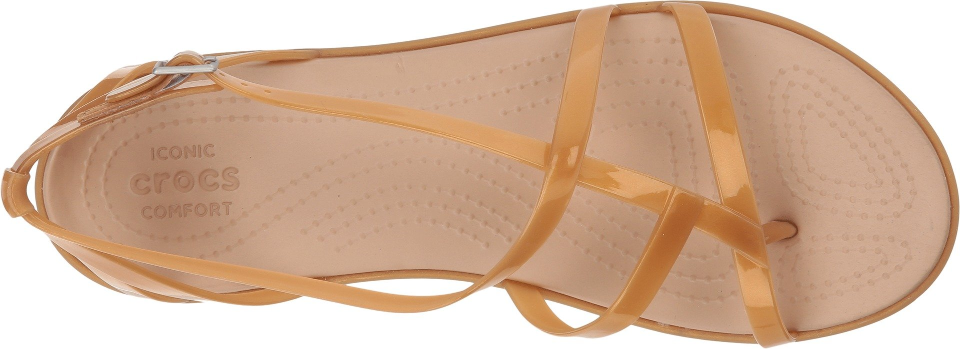 Crocs Women's Isabella Gladiator Sandal W Flat, Dark Gold, 6 M US by Crocs (Image #2)