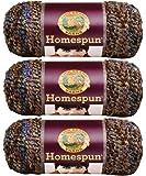 Bulk Buy: Lion Brand Homespun Yarn (3-Pack) Corinthian 790-345