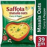 Saffola Masala Oats, Curry & Pepper, 39 gm