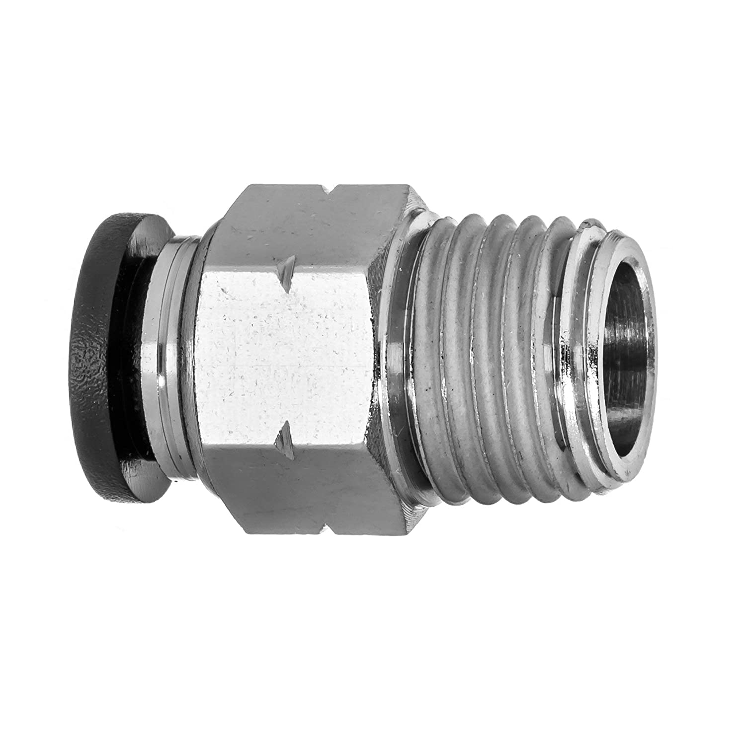 Nylon Plastic Male Straight USA Sealing Push to Connect Tube Fitting 1//4 Tube OD x 1//4 BSPT Male