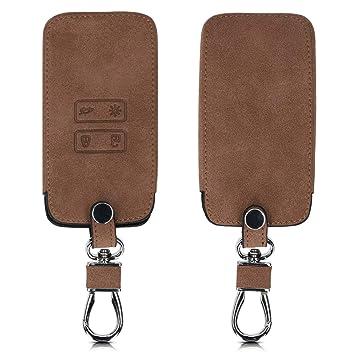 kwmobile Funda para Llave Smart Key de 4 Botones para Coche Renault (Solamente Keyless Go) - Carcasa de Ante sintético - Protector para Mando de ...