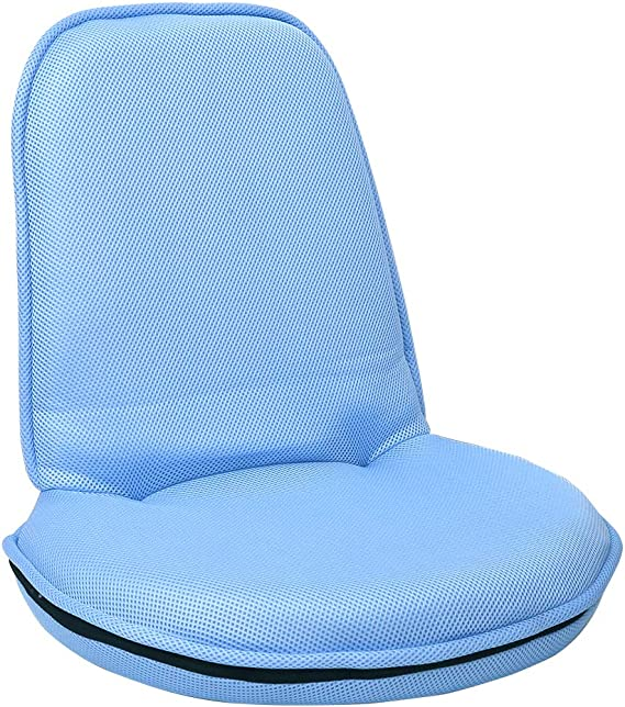 Sundale Outdoor Indoor Adjustable Floor Chair Round Soft Polyester Mesh Fabric Portable Gaming Chair