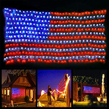 XTF2015 American Flag Led String Lights