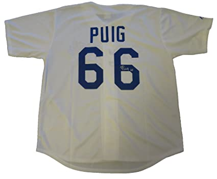 designer fashion a672c c34ea Yasiel Puig Autographed Los Angeles Dodgers Jersey W/PROOF ...