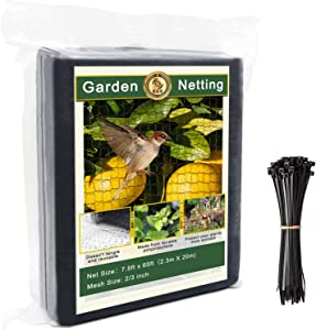 KGK Garden Netting [Heavy Duty] Bird Netting for Garden - Doesn't Tangle and Reusable - Durable Polypropylene Mesh - Protects Plants and Fruit Trees Against Birds, Deer and Other Pests (7.5ft x 65ft)
