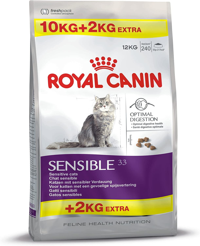 ROYAL CANIN Feline Health Nutrition Sensible 33 Saco DE 10 + 2 Kg