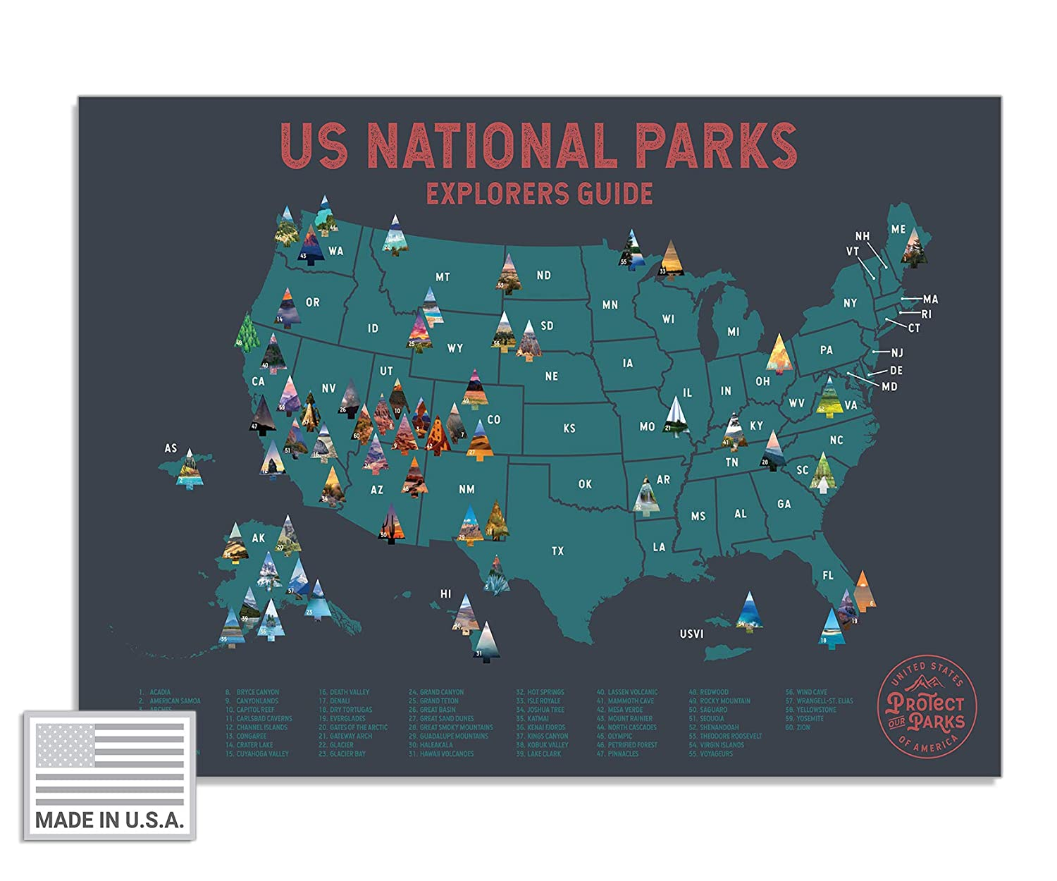 "USA National Park Scratch Off Map (24"" x 17"") - Interactive Educational on yellowstone national park indian history, united states map interactive, las vegas map interactive, canada map interactive, georgia map interactive, yellowstone national park lodging, missouri map interactive, yellowstone national park wallpaper, yellowstone national park google maps, yellowstone national park vacations, yellowstone national park driving directions, texas map interactive, kansas map interactive,"