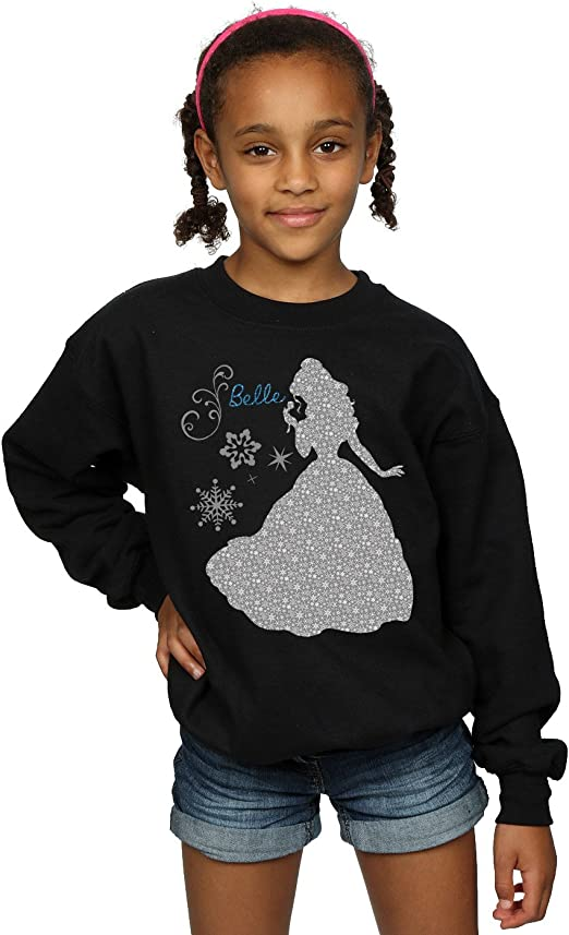 Disney Girls Princess Belle Winter Silhouette Sweatshirt