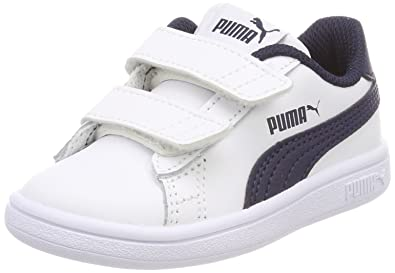Puma Unisex Baby Smash v2 L V Inf Sneaker, Blau White-Peacoat, 26 EU