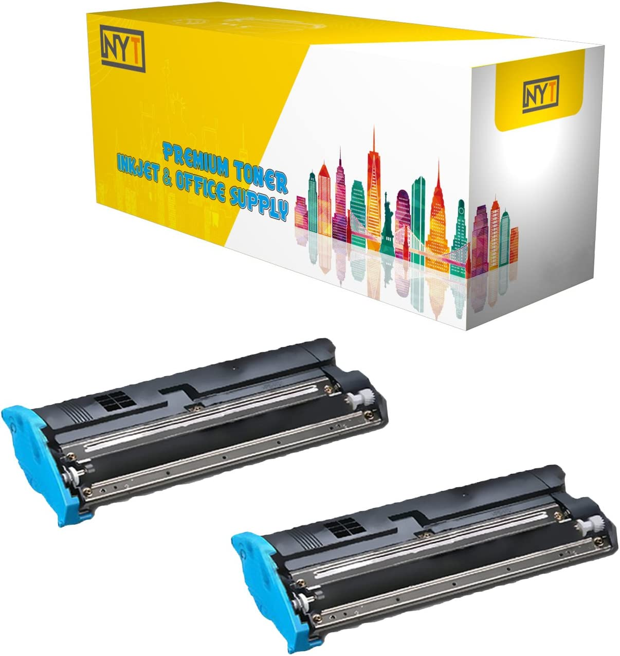 Black,3-Pack NYT Compatible High Yield Toner Cartridge Replacement for QMS 5650 for Konica Minolta QMS Magicolor 5650