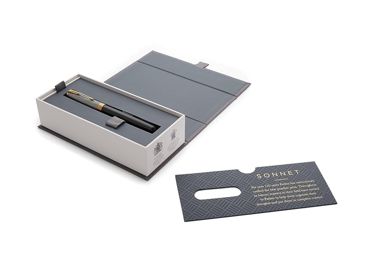 PARKER Sonnet Stainless-Steel Palladium-Finish Trim Ballpoint Pen Gift Boxed Medium Nib