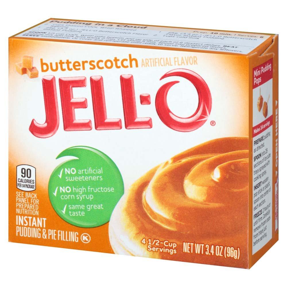 Amazon Jell O Butterscotch Instant Pudding Mix 34 Ounce Box
