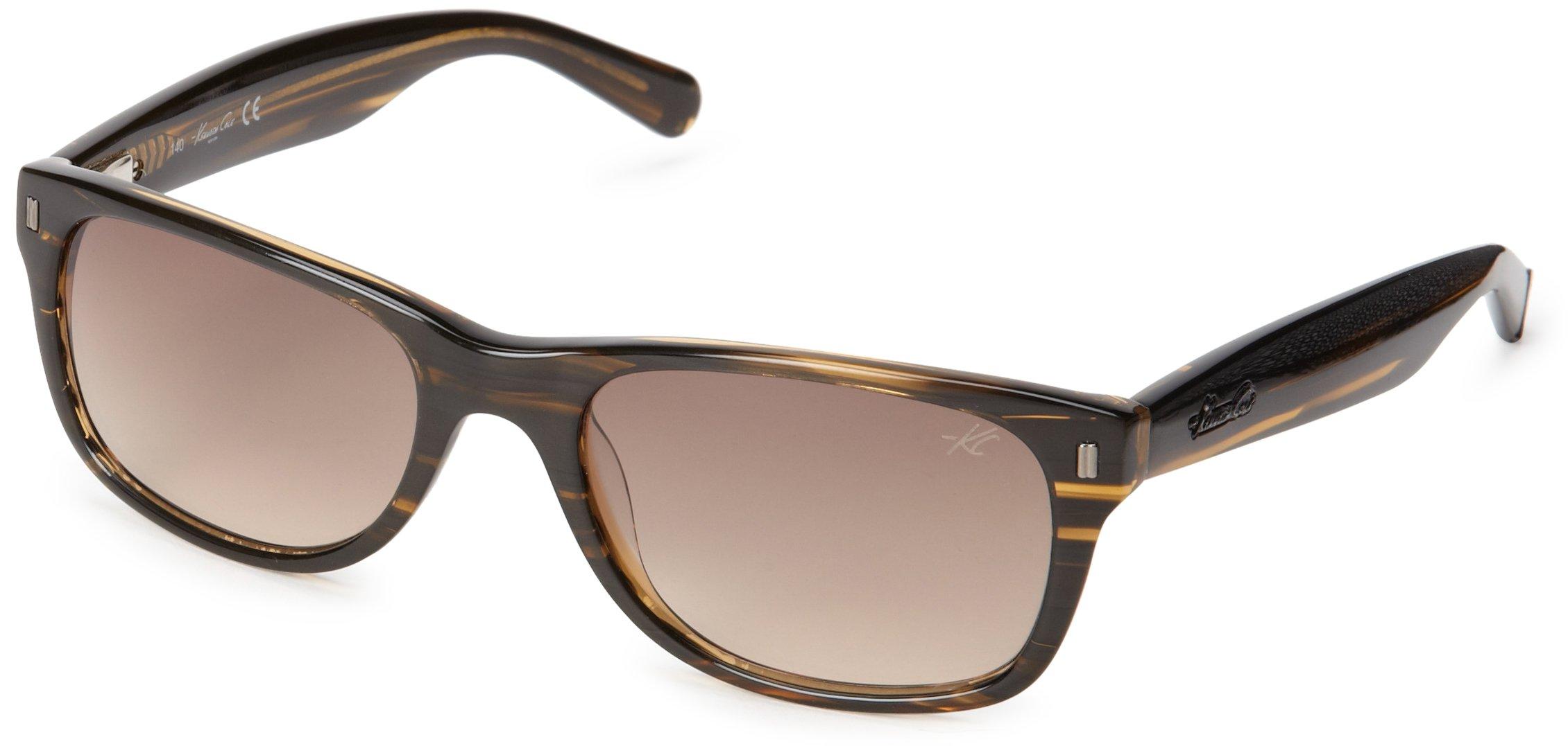 Kenneth Cole New York KC7123W5362F Wayfarer Sunglasses,Brown Horn,53 mm