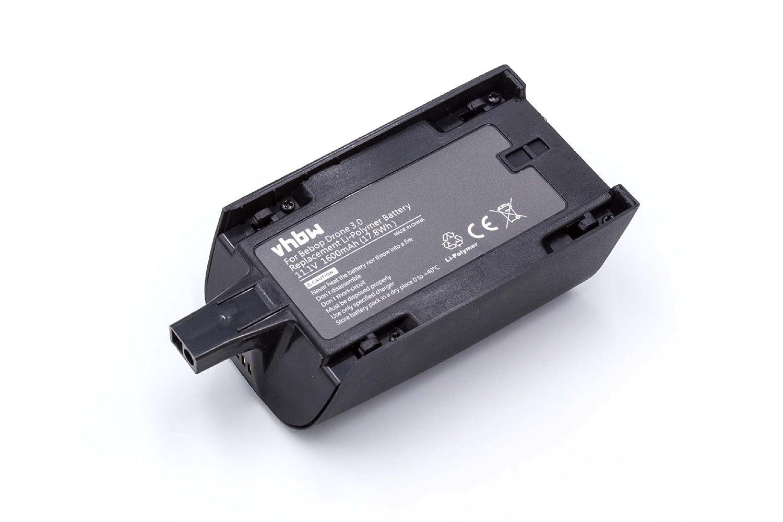 vhbw Batería de polímero de Litio 1600mAh (11.1V) para dron ...