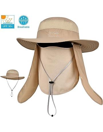 94c0a194 LCZTN Outdoor Sun Cap for Men & Women Breathable Wide Brim Fishing Hat UPF  50+