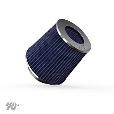 K&N Universal Clamp-On Air Filter: High Performance, Premium, Washable, Replacement Filter: Flange Diameter: 4 In, Filter Height: 5.5 In, Flange Length: 1.125 In, Shape: Round Tapered, RG-1001BL: Automotive