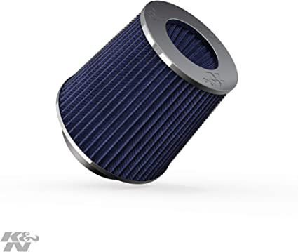 "BLUE UNIVERSAL 3/"" 76mm FLANGE DRY AIR FILTER FOR DODGE SHORT//COLD AIR INTAKE"
