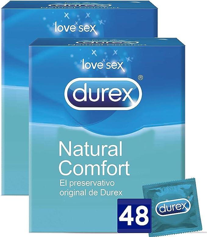 Durex Preservativos Originales Naturales Natural Comfort - 48 Condones: Amazon.es: Salud y cuidado personal
