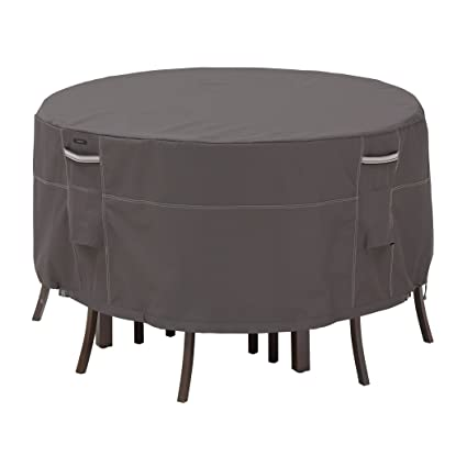 Classic Accessories Ravenna Tall Round Patio Table \u0026 Chair Set Cover - Premium Outdoor Furniture Cover  sc 1 st  Amazon.com & Amazon.com : Classic Accessories Ravenna Tall Round Patio Table ...