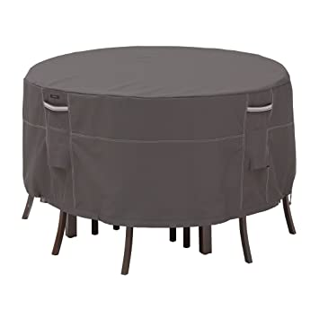 classic accessories ravenna patio bistro table and chair cover premium outdoor furniture cover with durable amazon patio furniture covers