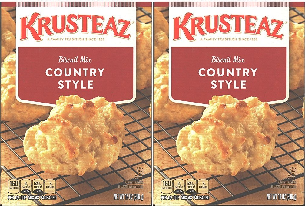 Krusteaz, Biscuit Mix, Country Style, 2 Pack, 14 Oz Per Box
