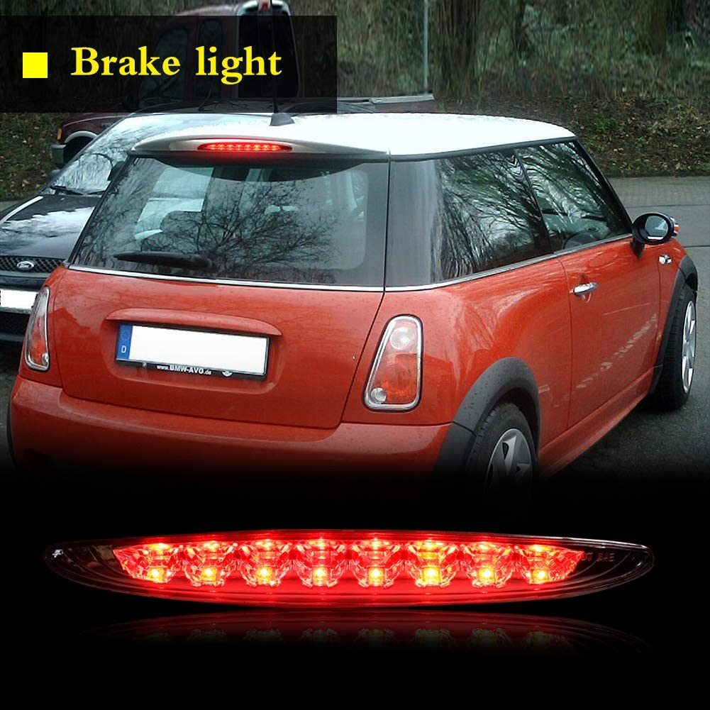 Miniclue Clear Lens Rear High Mount 3rd Stop Brake Light For 2002-2006 Mini Cooper R50 R53 1st Gen