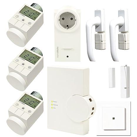 """komforthaus – Set de calefacción """"HomeMatic domótica inteligente para 3 habitaciones"""