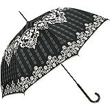 macocca(マコッカ) 晴雨兼用 UVカット 遮光率99% ダマスク柄 シルバーコーティング ジャンプ傘