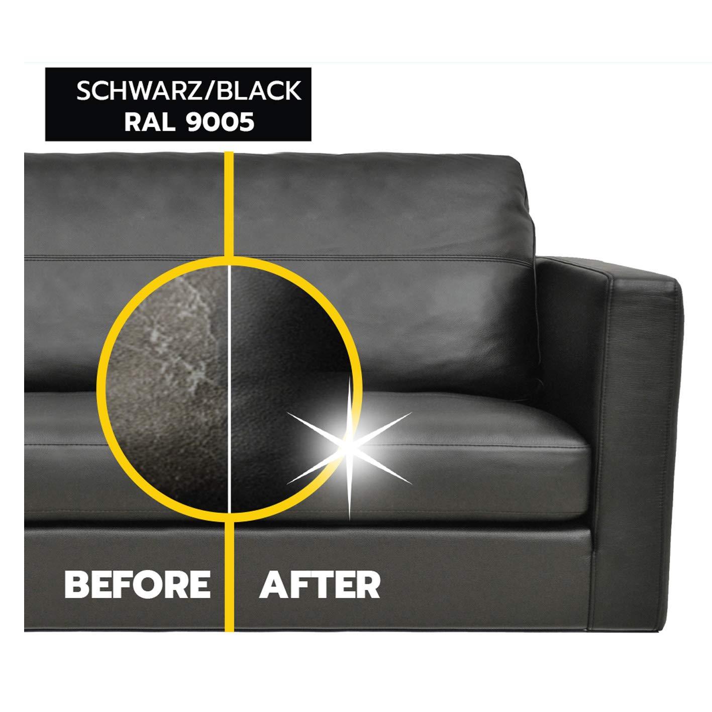 1-2-3 REPAIR Tinte para Cuero y Cuero sintético, Negro