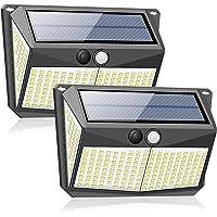 228LED Solar Lights, Outdoor Wireless Double Solar Motion Sensor Lights with 270 Degrees Sensor Angle, IP65 Waterproof…