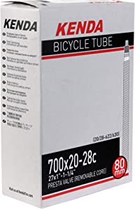 Kenda 700 x 20-28 Presta Valve Bicycle Tube (1 Pack, 700 x 20-28, Presta, 80mm)