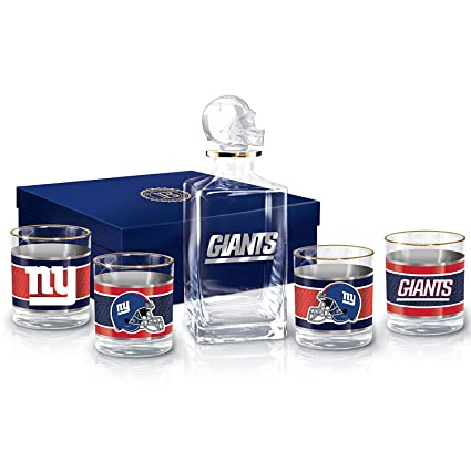 release date 1adc8 ebebb NFL New York Giants Decanter and Glasses Barware Gift Set by The Bradford  Exchange