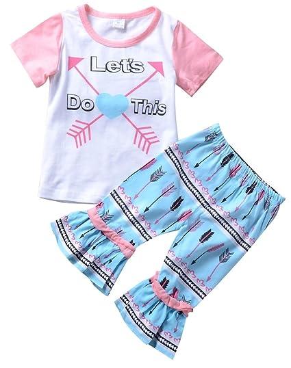 04e05e684 Amazon.com  Clearance Sale!! 3Pcs Set Fashion Toddler Kids Baby Girl ...